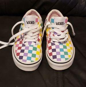 Kids Van's Checkerboard Shoes